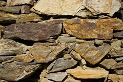 Stone wall. In Collioure, France 2005 Stock Photography