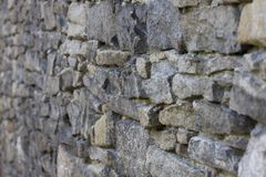 Stone wall. Gray tone wall (old castle Royalty Free Stock Image