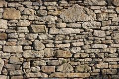 Stone wall. Wall made of old stone bricks as a background Royalty Free Stock Photography