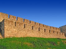 Stone wall. Belgrade fortress wall Stock Images