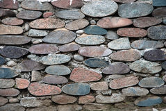 Stone wall. Background. Stones and cement Royalty Free Stock Images