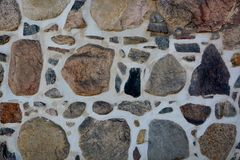 Stone wall with abstract pattern Stock Image
