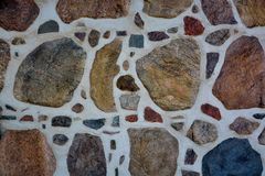 Stone wall with abstract pattern Stock Images