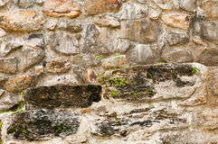 Stone Wall - Altun Ha stock photography