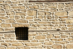 Stone wall. In the ancient Bulgarian town of Sozopol Royalty Free Stock Photo
