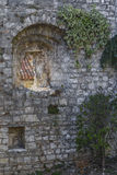 Stone wall of the ancient castle Royalty Free Stock Image