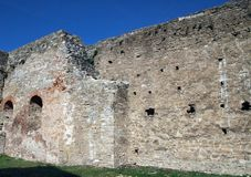 Stone wall of an ancient castle Royalty Free Stock Photography