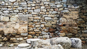 Stone wall of ancient houses Stock Image
