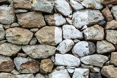 Stone wall of ancient monastery royalty free stock photo