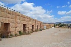 Stone Wall. Ancient ruins of Jerash, Jordan stock photos