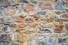 Stone wall as backround. Stone wall can use as backround Royalty Free Stock Photography