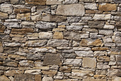 Stone wall background. Stone wall made of a lot of stones, big and small Stock Image