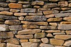 Stone wall background. Very old Stone wall background Stock Photos