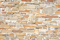 Stone wall background. The background is a stone wall stock photo