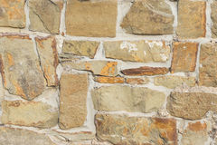 Stone wall background. The background is a stone wall stock image