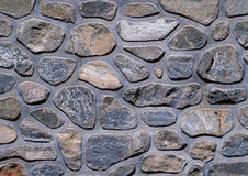 Stone wall background. Background of stone wall of boulders and pebbles. Stock Photography
