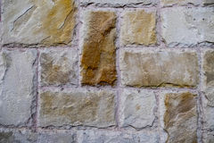 Stone wall background. The colorful stone wall background Stock Photos
