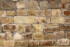 Stone wall background horizontal Stock Image