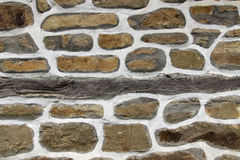 Stone wall background horizontal Royalty Free Stock Photo