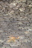 Stone wall background. Stone wall made of gray textured stones Royalty Free Stock Images