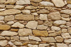 Stone wall background. Rock textured surface. Rough material Stock Images