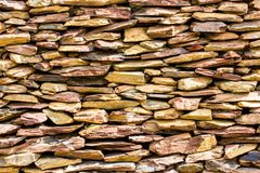 Stone wall for background,Slab stone wall texture stock images