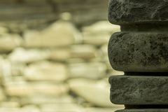 Stone wall on the background royalty free stock photo