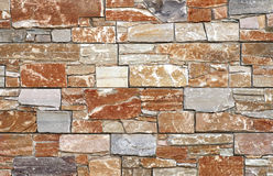 Stone wall background texture brown and grey color Royalty Free Stock Photo