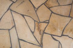 Stone wall background Texture marble cream color Royalty Free Stock Image