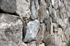 Stone wall of background. Royalty Free Stock Images
