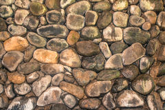 Stone wall in the backyard. stock photography