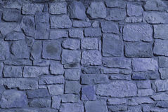 Stone wall. Blue color Stock Image