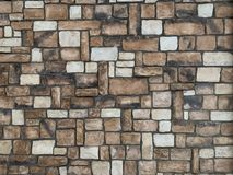 Stone wall, brick. wall of the house. stock photo