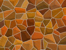 Stone wall brown Stock Photos