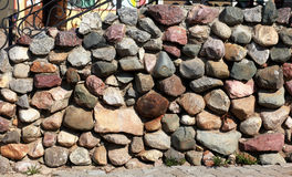 Stone wall building decoration Royalty Free Stock Images
