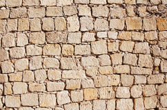 Stone wall building Royalty Free Stock Images