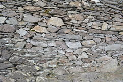 A stone wall of Cahergall stone fort in Ireland Stock Images
