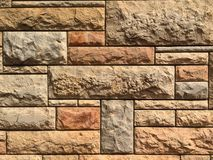 Stone wall carved Royalty Free Stock Images