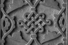Stone wall carving detail Stock Photo