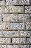 Stone wall with cement fugue Stock Images