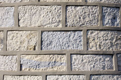 Stone wall with cement fugue. Old stone wall with cement fugue Royalty Free Stock Photo