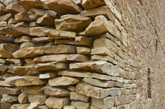 Stone wall, Chaco Canyon Stock Images