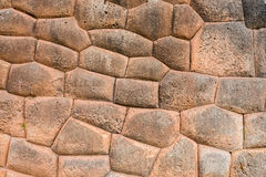 Stone wall Chincheros town peruvian Andes  Cuzco Peru Royalty Free Stock Photos