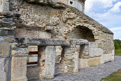 Stone wall church Royalty Free Stock Images