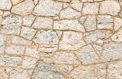 Stone wall close up. Stone wall texture Background Close up Stock Photo