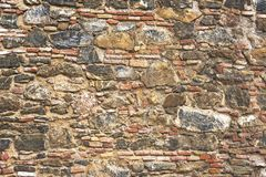 Stone wall Close-up. Texture. royalty free stock images