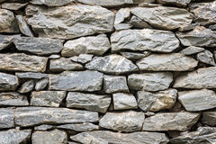 Stone wall in close up view Stock Photo