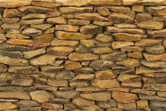 Stone wall. Closeup of brown stone wall Royalty Free Stock Images