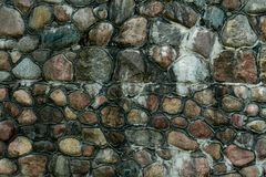 Stone wall on the coast of the Baltic Sea stock photography
