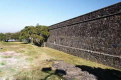 Stone Wall Colonia Sacramento Uruguay Royalty Free Stock Photos